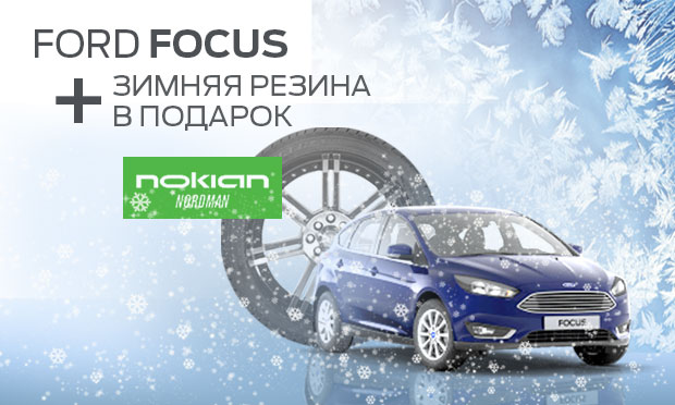 Ford Focus + зимняя резина